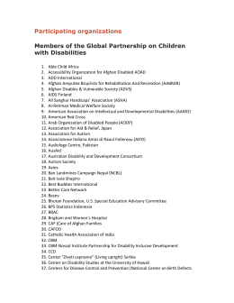 Participating organizations Members of the Global