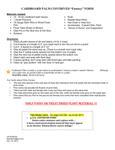 Instructions for Cardboard Palm Fantasy Flower