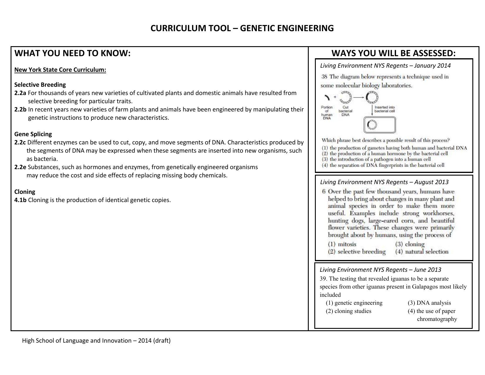 Workbooks regents biology worksheets : curriculum tool – genetic engineering what you need to know