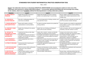 STANDARDS FOR STUDENT MATHEMATICAL