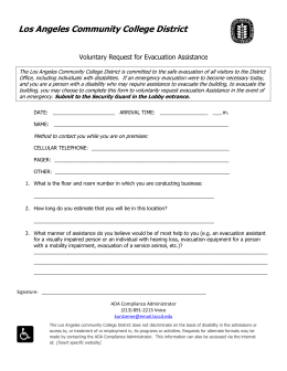 Voluntary Request For Evacuation Assistance form