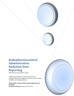 Radiopharmaceutical Administration Radiation Dose