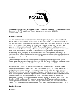 FCCMA Pension Whitepaper – 2011