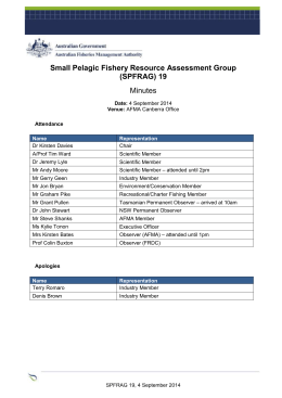 Small Pelagic Fishery Resource Assessment Group (SPFRAG)