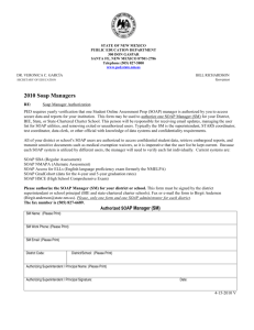 SOAP administrator Authorization Form