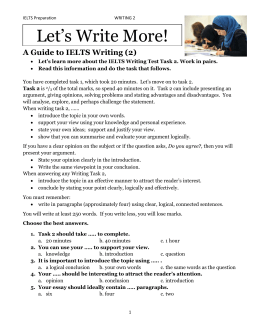 A Guide to IELTS Writing (2)