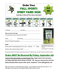 an order form - Langley Athletic Boosters