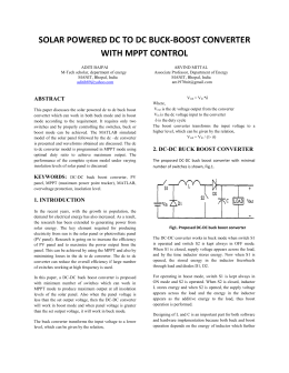 solar powered dc to dc buck-boost converter with mppt control