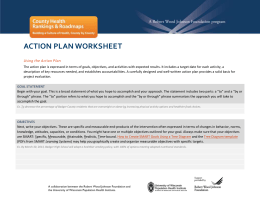 Action Plan Template - County Health Rankings & Roadmaps