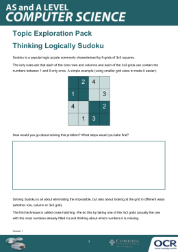 Thinking logically - Topic exploration pack - Learner activity