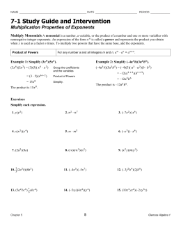 study guide and intervention adding polynomials professional user rh gogradresumes com 8-2 study guide and intervention adding and subtracting polynomials study guide and intervention adding and subtracting polynomials 8-5