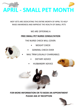 April 2014 - Small Pet Month