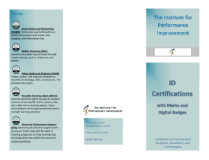List of available badges - The Institute for Performance Improvement