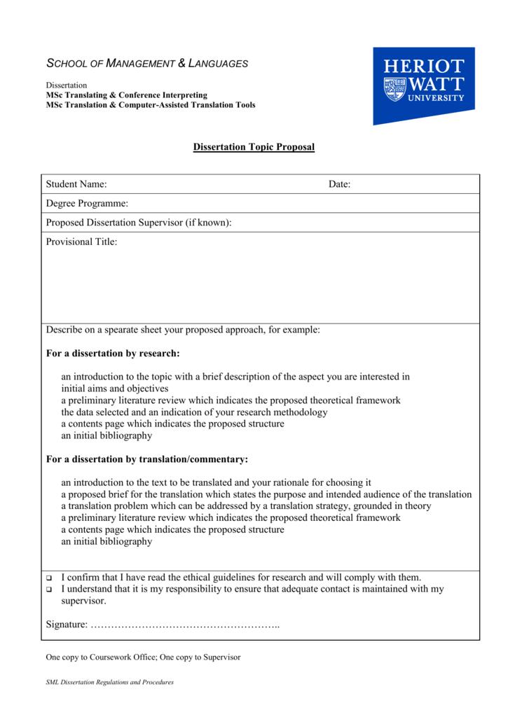 dissertation translation