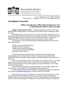 FOR IMMEDIATE RELEASE William King Museum Offers Special