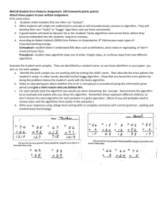 Student Error Pattern Assignment