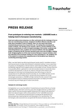 LASHARE Press Release Project Start [ DOCX 0.29 MB ]