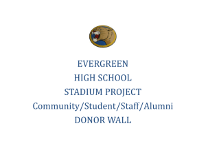 EHS Stadium Donor Wall