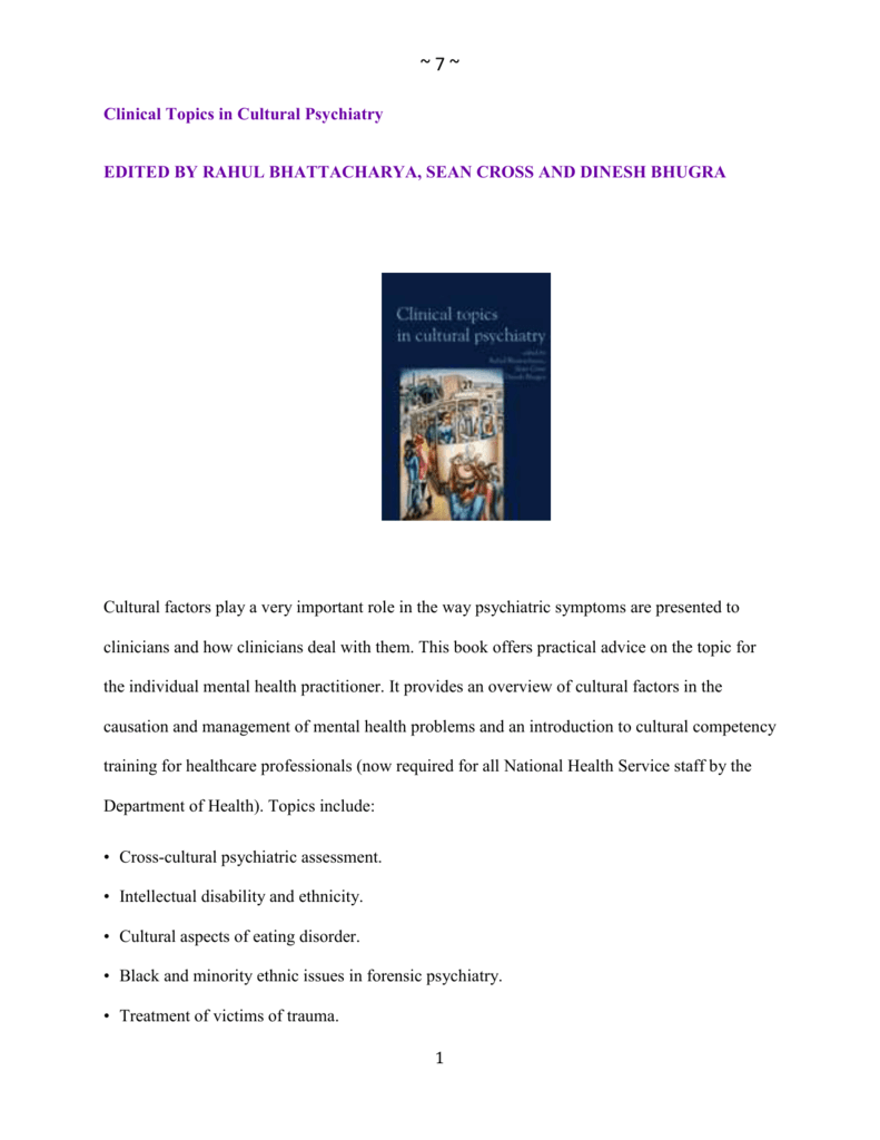 Book Review - Royal College of Psychiatrists