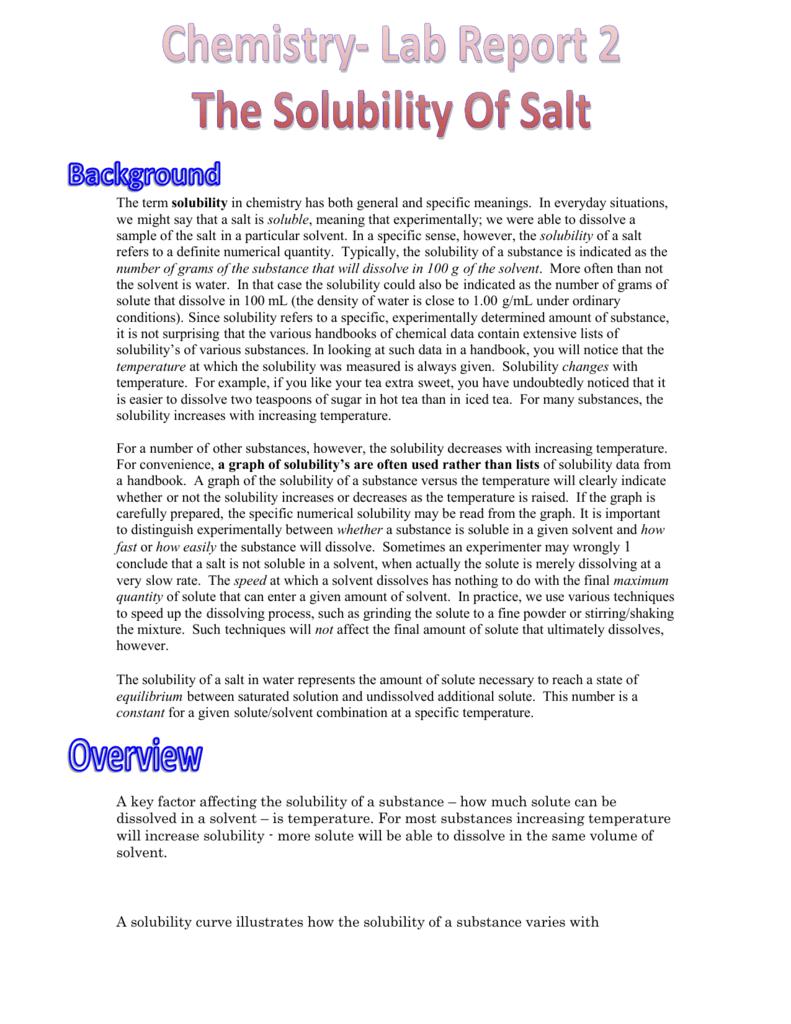 worksheet Factors Affecting Solubility Worksheet rashids lab report