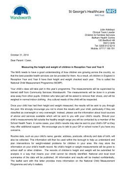 The national child measurement programme circular letter ncmp parents consent letter 2014 altavistaventures Images