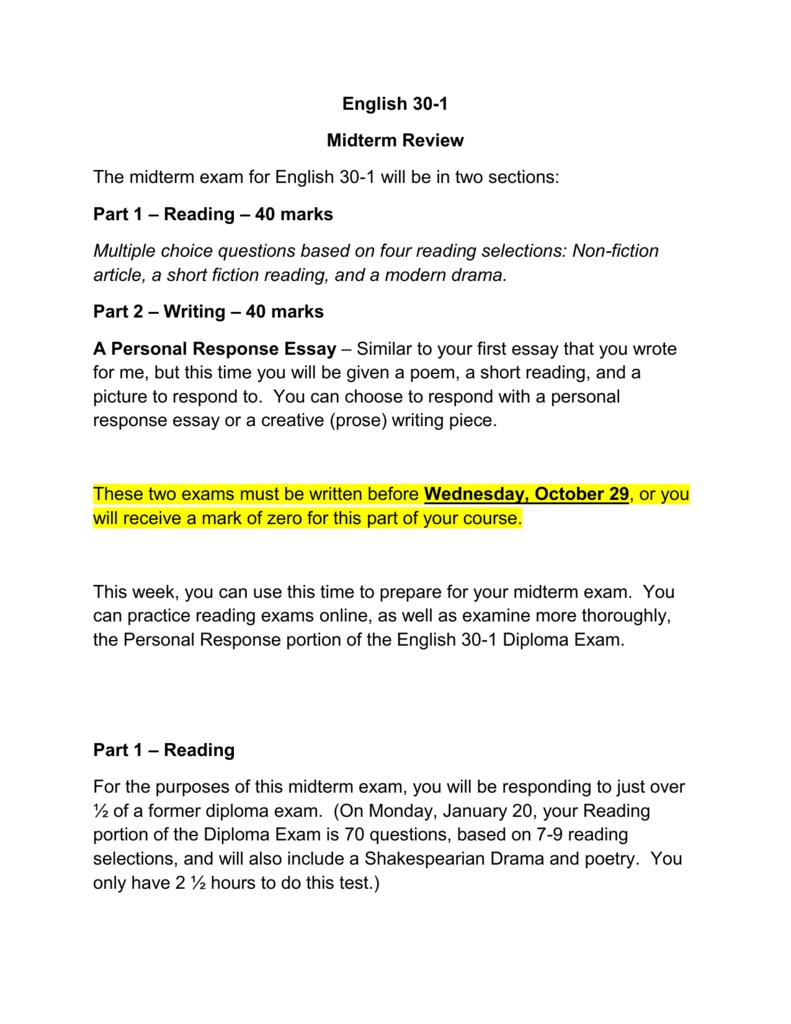 English language arts 30–1.
