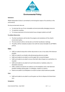 Environmental Policy - Prism Independent School