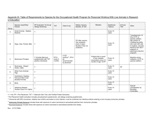 Occupational Health Table