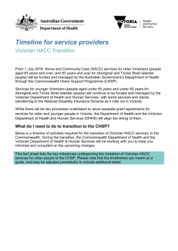 Timeline for service providers