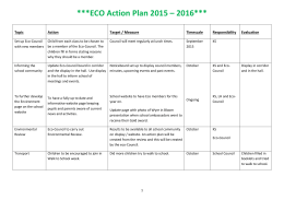 Eco Council Action Plan 2015/16