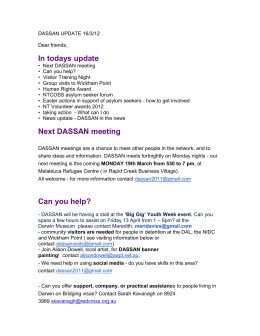 dassan update 16/3/12 - Darwin Asylum Seeker Support and