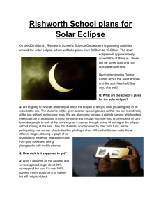 Eclipse - Rishworth School