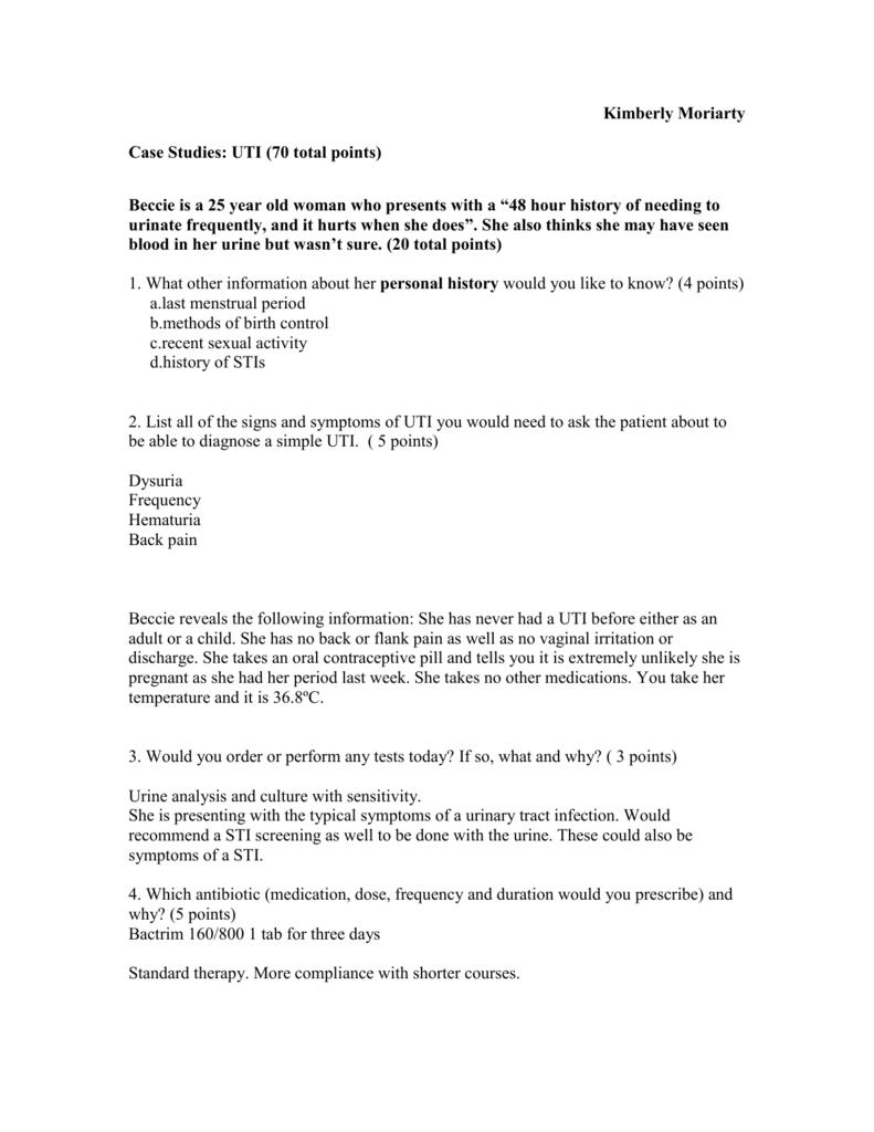 Case Studies: UTI