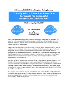 Cloudy with a Chance of Records – Forecasts for