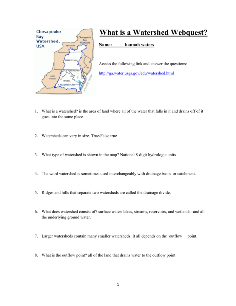 What is a Watershed Webquest