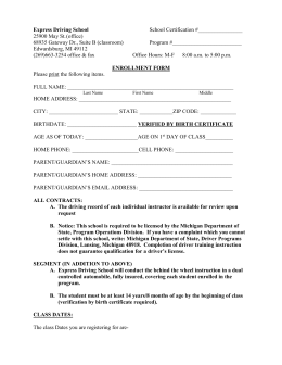Segment 1 Enrollment Form