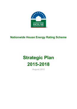Strategic Plan - Nationwide House Energy Rating Scheme