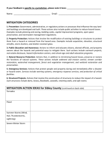 Mitigation Plan Feedback Form