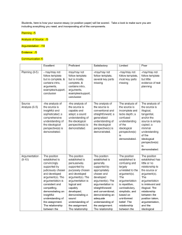 SS Source Essay Rubric