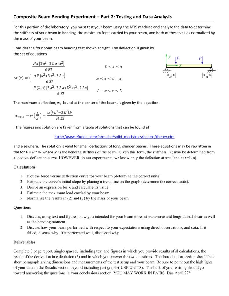 Composite Beam Bending Experiment - 2