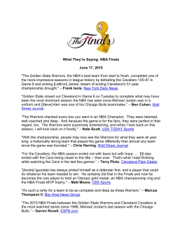 What They`re Saying: NBA Finals June 17, 2015