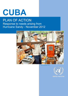 Plan of Action for Cuba - Response to needs arising from Hurricane