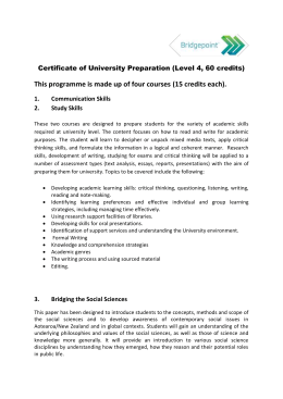 Certificate of University Preparation (Level 4) - Waitakere
