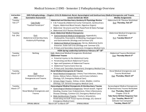 S2 Medical and Trauma Overview for Abdominal, Renal, GYN, GU