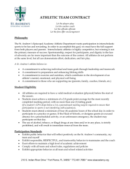 Athletic Team Contract - St. Andrew`s Episcopal Academy