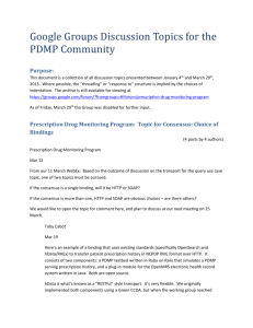 PDMP Google Groups Discussions Jan