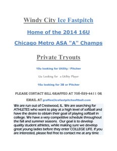 Windy City Ice Fastpitch roster ad
