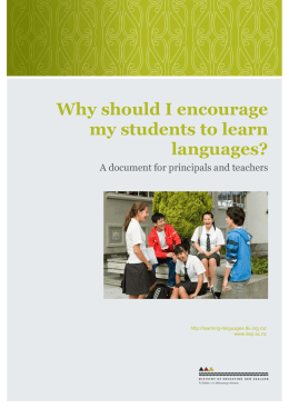 Principals Document_Learning Languages