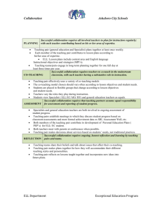 ELL EC Collaboration Guidelines