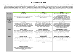 re curriculum map - Ealing Grid for Learning